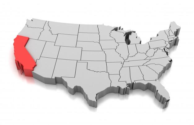 El mundo de las Rosas - Variedades de Rosas - Mapa de California